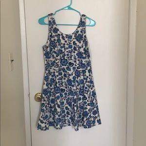 White and Blue Sundress